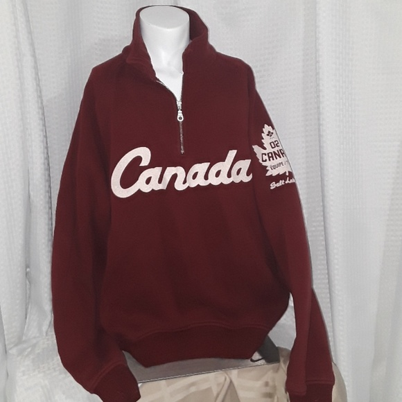 Men's ROOTS Canada hoodie from 2002 SLC Olympics